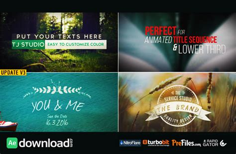 after effects free title templates download 70 title animation pack videohive project free