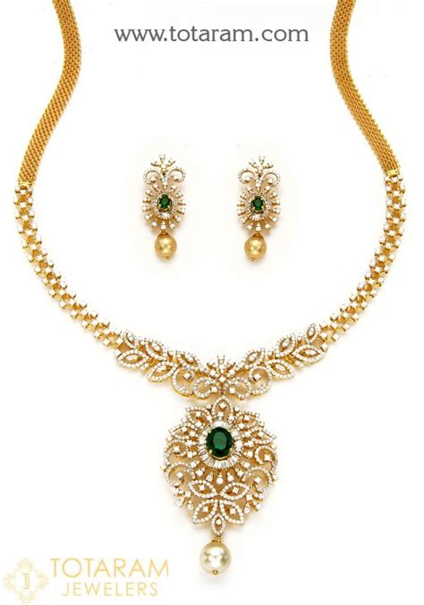 Jewelry Colour Culture 18k gold necklace earrings set with japanese