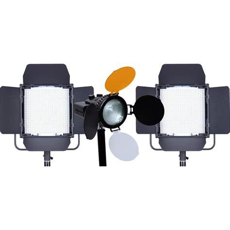 best led light kit for interviews axrtec interview led 3 light kit axr k int b h photo video