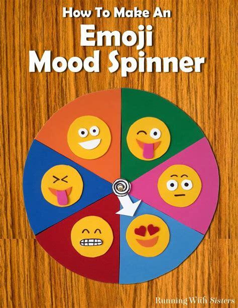 how to make chart psper for make sagun envelope make an emoji mood spinner emoji faces pie charts and craft foam