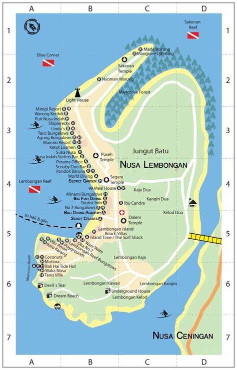 cheap boat sanur to lembongan lembongan map from http www gili blog map of
