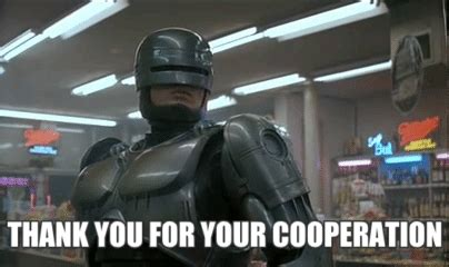 Robocop Meme - robocop thank you gif find share on giphy