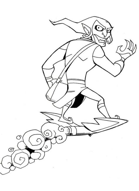 green goblin coloring page  coloring pages