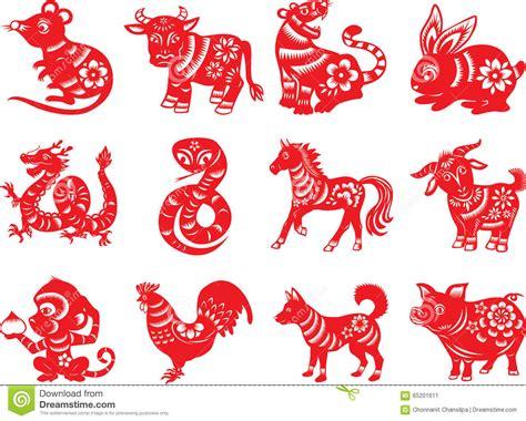 new year 12 zodiac animals rat zodiac sign zentangle stylized vector