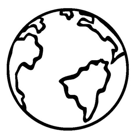 earth cartoon coloring pages coloring page of earth vitlt com