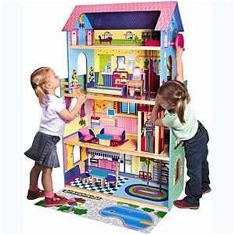 4 story dollhouse with elevator three story wooden dollhouse
