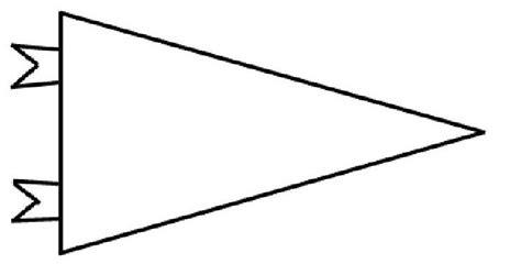 blank pennant template blank pennant clipart 22