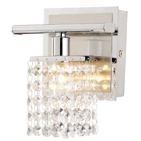 bathroom crystal light fixtures sparkle chrome 6 quot wide crystal bathroom light fixture 99