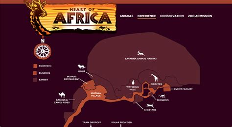 africa zoo map zoo tails