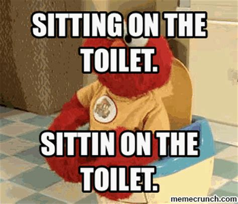 Toilet Meme - sitting on the toilet