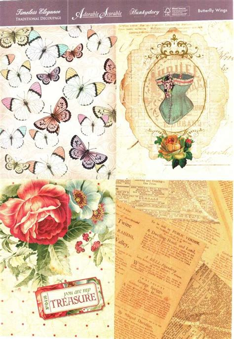 Hunkydory Decoupage - foil play hunkydory timeless elegance traditional