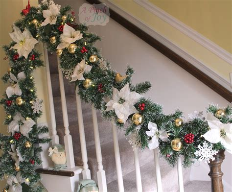 garland on banister holiday banister garland