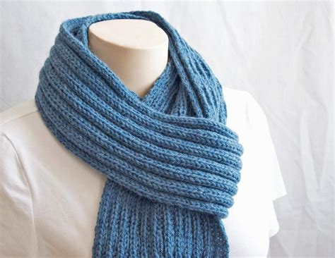 pattern knitting scarf blue mist scarf by gascon