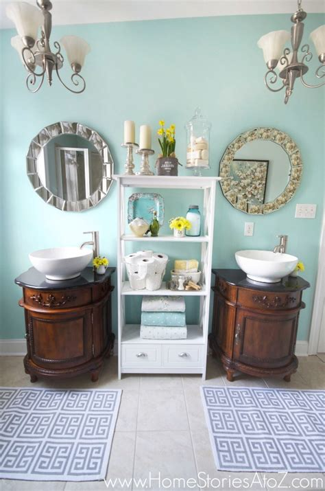 Sherwin Williams Moody Blue by Sherwin Williams Watery Bathroom Makeover Home Stories A
