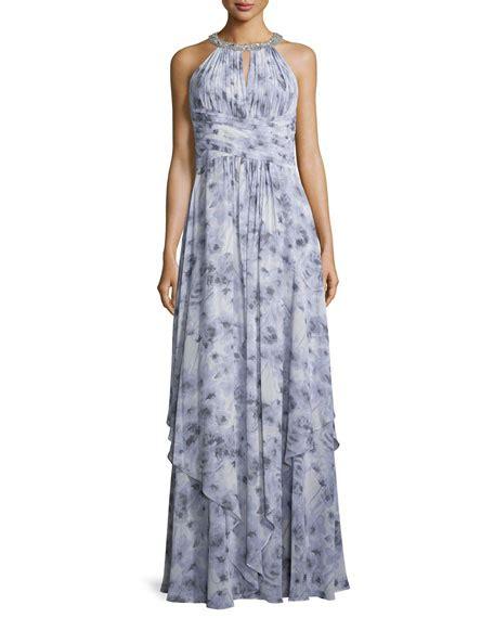 Dress Siena 4 M donna siena beaded halter chiffon gown neiman