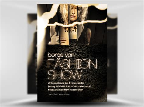 fashion flyers templates for free fashion show flyer template flyerheroes