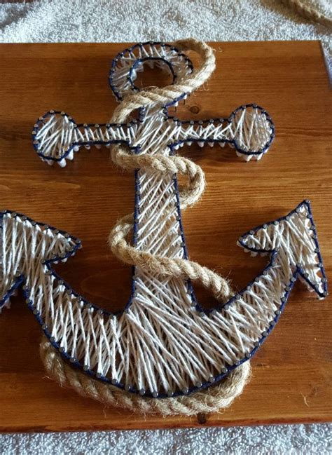 String Arts And Crafts - nautical anchor string with rope fast shipping