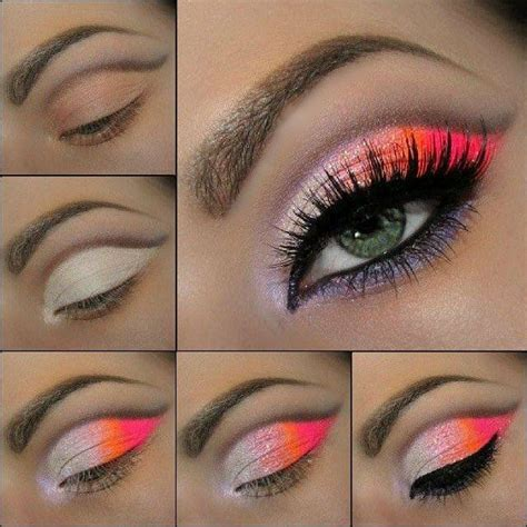 orange makeup tutorial 17 fabulous neon eye makeup ideas for women pretty designs