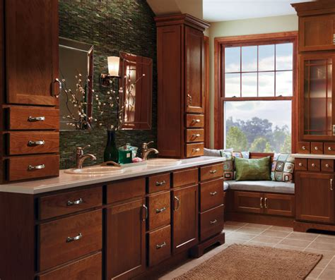 Cherry Bathroom Storage Cabinet Cherry Bathroom Cabinets Homecrest Cabinetry