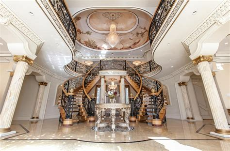 12 glorious mansion staircase designs that are going to 18 000 square foot stately mansion in mississauga canada