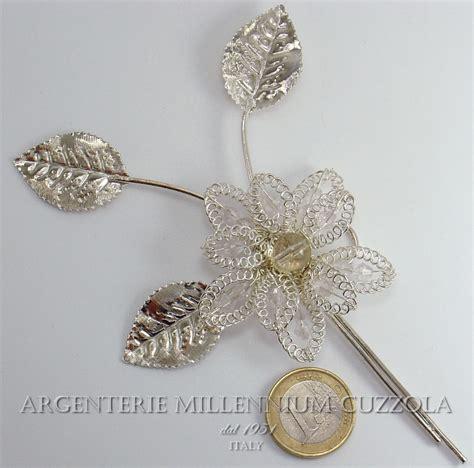fiori argento bomboniere fiori argento segnaposto comunione matrimonio