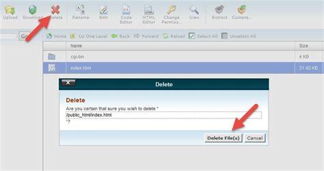 cara membuat file index html cara upload file website menggunakan cpanel duniailkom