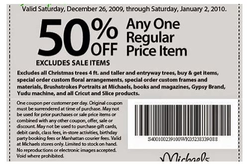 michaels printable coupon january 2018