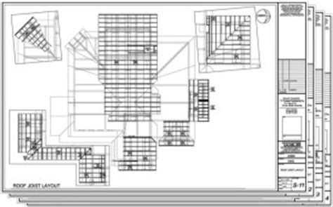 Ceiling Joist Layout by Permit Construction Plans Tamlin Homes Timber Frame