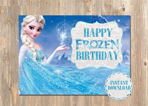 printable birthday cards elsa 4 best images of printable happy birthday cards frozen