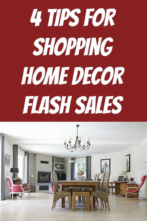 4 tips for shopping home decor flash sales shopping
