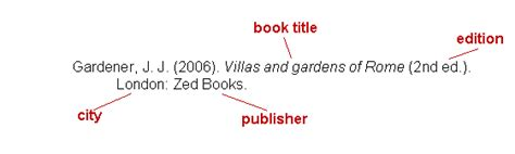 reference books exles judging bibliographic references type of document