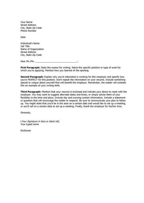 Basic Cover Letter For A Resume Cover Letter Template Us