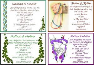 wiccan wedding invitation wording 50 personalised handfasting invitations wicca wiccan ceremony large 6 quot x 4 quot ebay