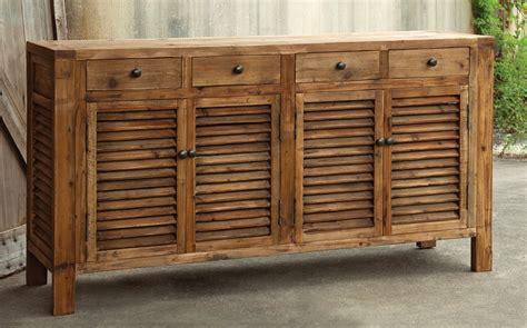 rustic shutter cabinet