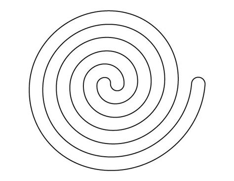 Spiral Pattern Template spiral pattern use the printable outline for crafts