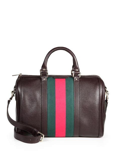 Gucci Romy Medium Boston Bag by Gucci Vintage Web Medium Boston Bag In Brown Lyst
