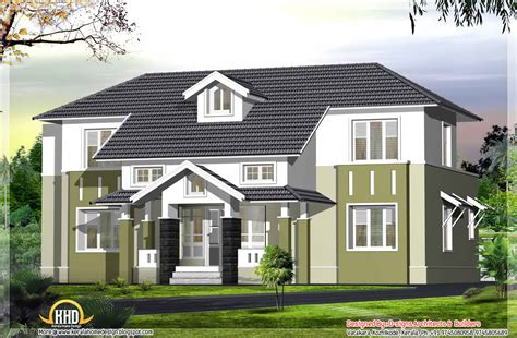 4 bhk sloping roof home design 1850 sq ft 2400 sq ft sloping roof house elevation kerala home design kerala house plans home decorating