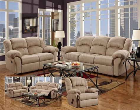 fabric reclining sofa sets camel fabric modern reclining sofa loveseat set w options