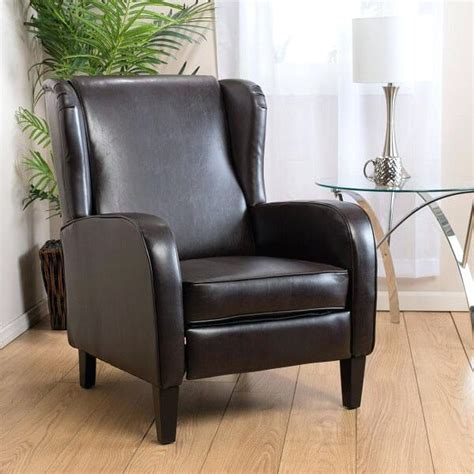 reclining wingback chair wingback leather recliner and leather recliner cheap