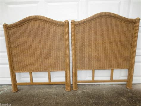 pair size 2 headboards wicker modern cottage