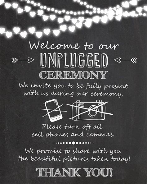 No At Your Wedding Our One by 25 Best Ideas About Unplugged Wedding On