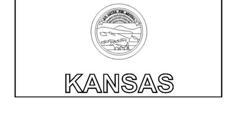 kansas state flag coloring page a cub scout us color
