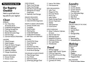 bridal registry wedding registry checklist from the container store wish list registry wedding