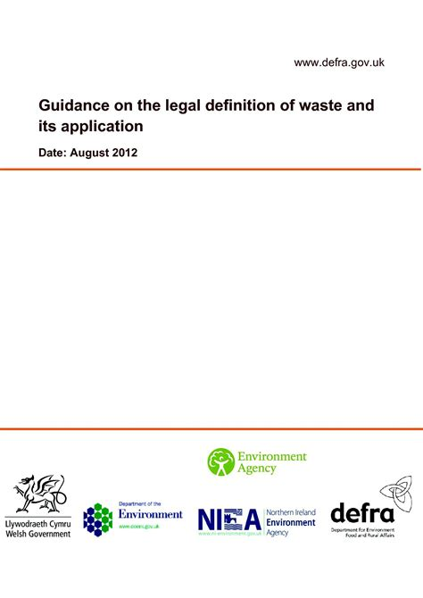 Define Mba Slang by Defra Guidance On Definition Of Waste Andrew T