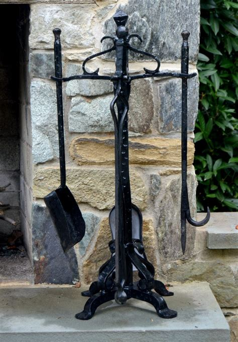 outdoor fireplace tools vintage archives stylish rev