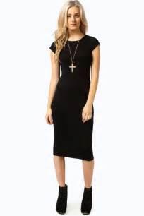 boohoo womens cara cap sleeve jersey bodycon midi dress ebay