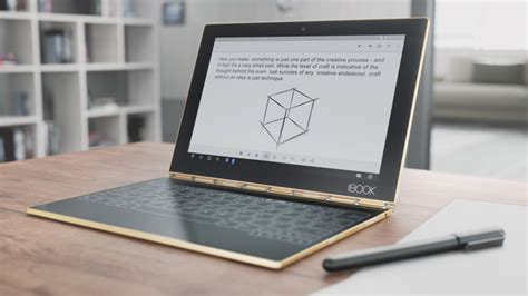 Lenovo Book the lenovo book is a 2 in 1 tablet that aims to cater to both power users and creative types
