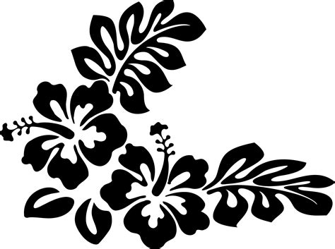 hawaiian clip art black and white clipart collection