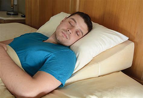 Sleeping On High Pillow by Sleep Improving Wedge Pillow Sharper Image