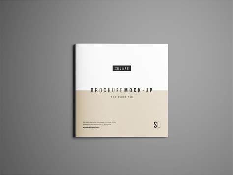 design poster square square brochure mockup psd